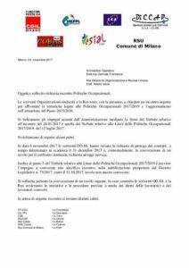 Comune di Milano: richiesta di incontro sulle politiche occupazionali